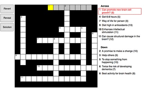 New Year's Resolution Crossword