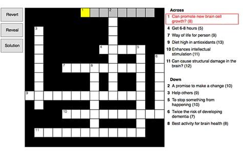 New Year's Resolution Crossword