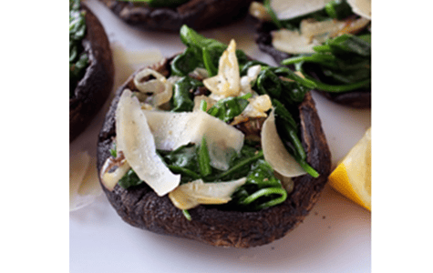 Spinach Stuffed Portobello Mushrooms with Parmesan and Thyme Recipe