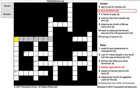 Remember September Crossword
